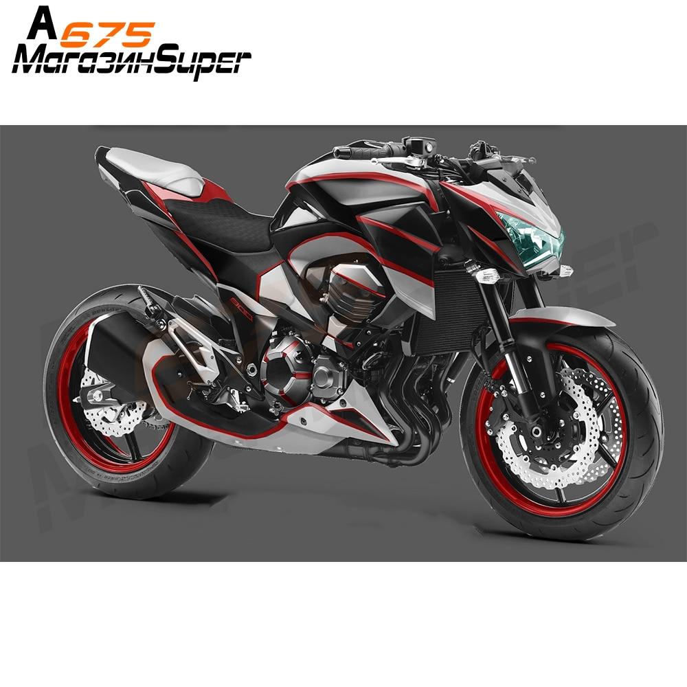 Fast Pro CNC Guardabarros Trasero para Motocicleta Color Negro para Kawasaki Z800 2014-2016