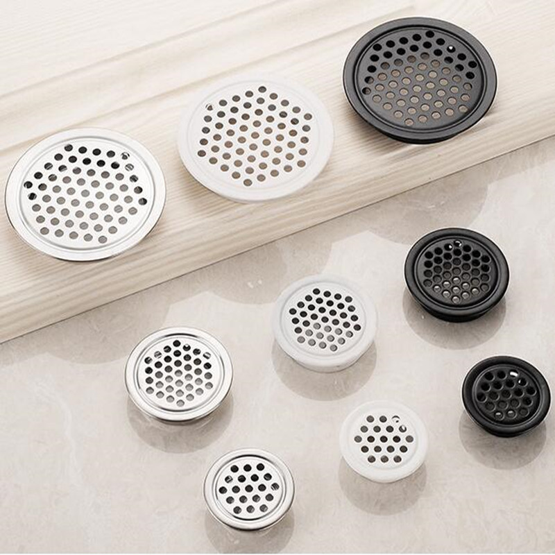 10pcs Thick Stainless Steel Round Vents Wardrobe Cabinet Air Vent Mesh Hole Decorative Ventilation Cover For Furniture