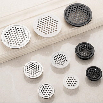 10pcs Thick stainless steel round vents wardrobe Cabinet Air Vent mesh hole decorative Ventilation cover for furniture - discount item  30% OFF Furniture Accessories