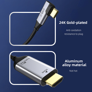 Image 3 - 2020 CABLETIME USB C to HDMI 90degree Cable Adapter Type C to HDMI 4K 60Hz for Huawei Mate30/20 P40/30 Pro Samsung Xiaomi C030