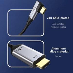 Image 3 - Cable adaptador USB C a HDMI de 90 grados, Cable tipo C a HDMI 4K 60Hz para Huawei Mate30/20 P40/30 Pro, Samsung, Xiaomi C030, 2020