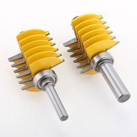 1pc 8mm 1/2 Shank 2 Teeth Adjustable Finger Joint Router Bit Tenon Cutter Industrial Grade for Wood Tool
