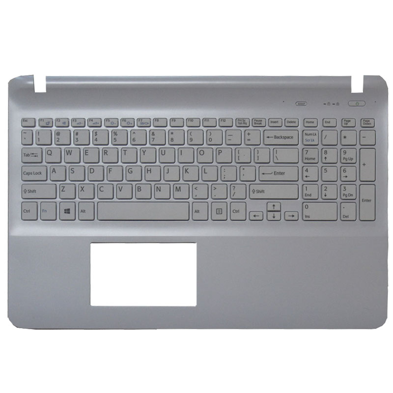 NEW English laptop keyboard for sony SVF152A29W SVF1521GSAW SVF1532BCXW SVF1521GSAW SVF1532BCXW  white without Touchpad-in Replacement Keyboards from Computer & Office    1