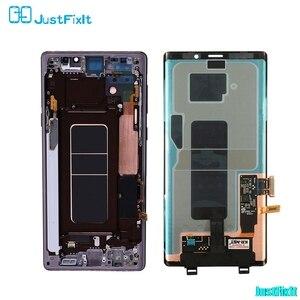 Image 2 - ЖК дисплей с сенсорным экраном для Samsung Galaxy Note 9, 100% оригинальный дигитайзер в сборе N960 N960F N960D N960DS, ЖК дисплей с рамкой