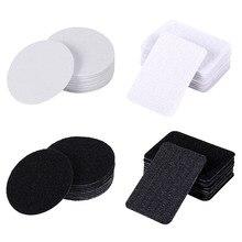 5 pares/lote forte auto-adesivo gancho e laço prendedor fita dupla-face adesivo velcros adesivo prendedor gancho loop diy costura