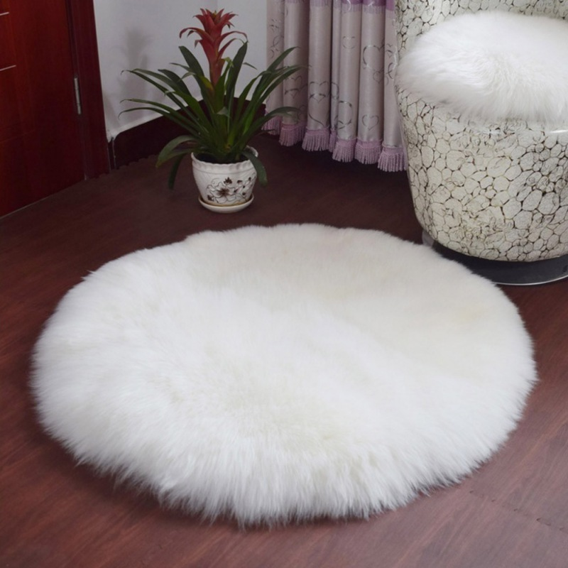 Hot Sale Soft Sheepskin Rug Chair Cover Artificial Wool Warm Hairy Carpet Bedroom Mat Seat Pad Skin Fur Area Rugs Warm Textile X