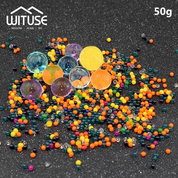 50 g partia duże hydrożel w kształcie perły kryształowe gleby galaretki koraliki wodne błoto rosną piłka ślub zabawki dla dzieci rosnące kule wodne tanie i dobre opinie WITUSE CN (pochodzenie) EQB001 Crystal Soil Super absorbent polymer 50g(about 3000 particles) About 0 25~0 3cm 0 098~0 12