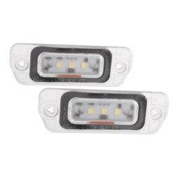 2 stücke LED License Platte Lichter Für Mercedes Benz AMG ML GL R-klasse W164 W251 Lizenzen Platten beleuchtung