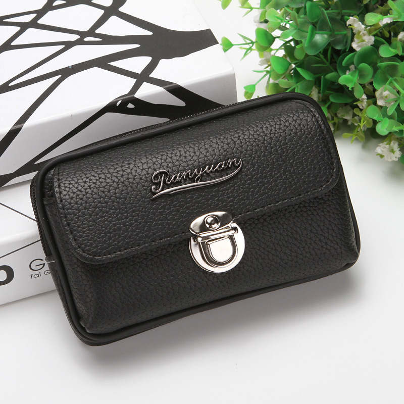 Coin Purse Mens Wallets PU Leather Hasp Purses Pocket Fanny Pack Waist Bag Man Black Brown Wallet Cards Holder Moneybag Notecase