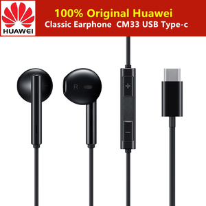Image 1 - Original Huawei Classic Earphone CM33 In ear Type C Connectors Headset with Control Stereo For P20 P30 pro Mate 10 honor 9