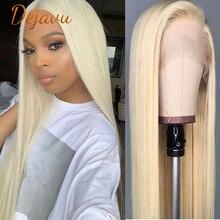Парик Dejavu 613 блонд на сетке спереди, парики из человеческих волос, 30 дюймов, 13x4x1, 13x4, парики на сетке спереди, прямые, предварительно выщипанны...