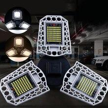 60/80/100W Deformable LED Garage Workshop Light Waterproof IP65 Lighting Industrial Lamp Ceiling for Warehouse E26/E27