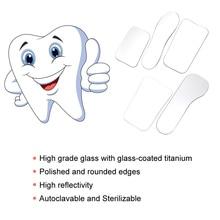 5 шт./компл. стеклянные двойные двусторонние зеркала стоматологические инструменты стоматологический ортодонтический Стоматологическая фотография