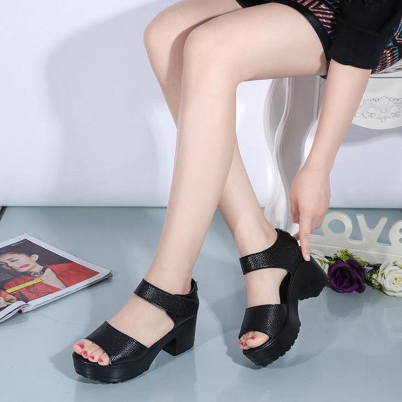 New European and American fish mouth thick heel women's sandals in spring and summer 2020 Bohemia women's casual sandals
