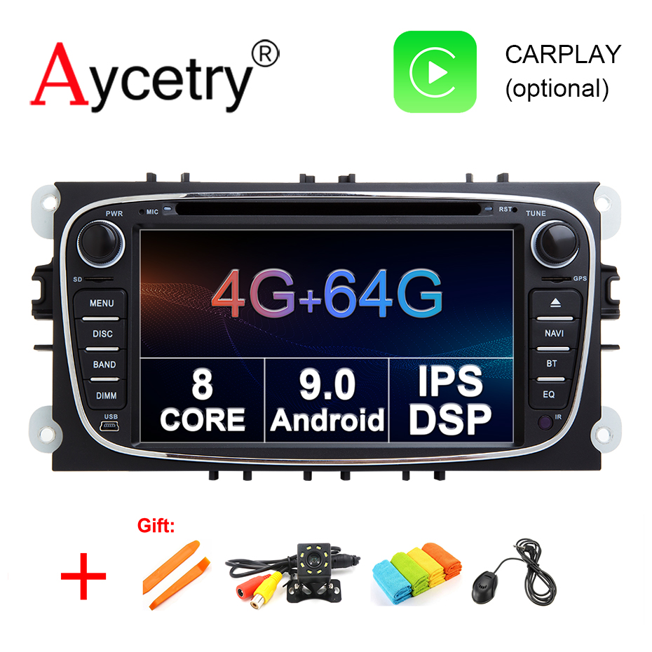 DSP 4G 64G 8 CORE For FORD Focus S MAX Mondeo C MAX Galaxy 2 Din