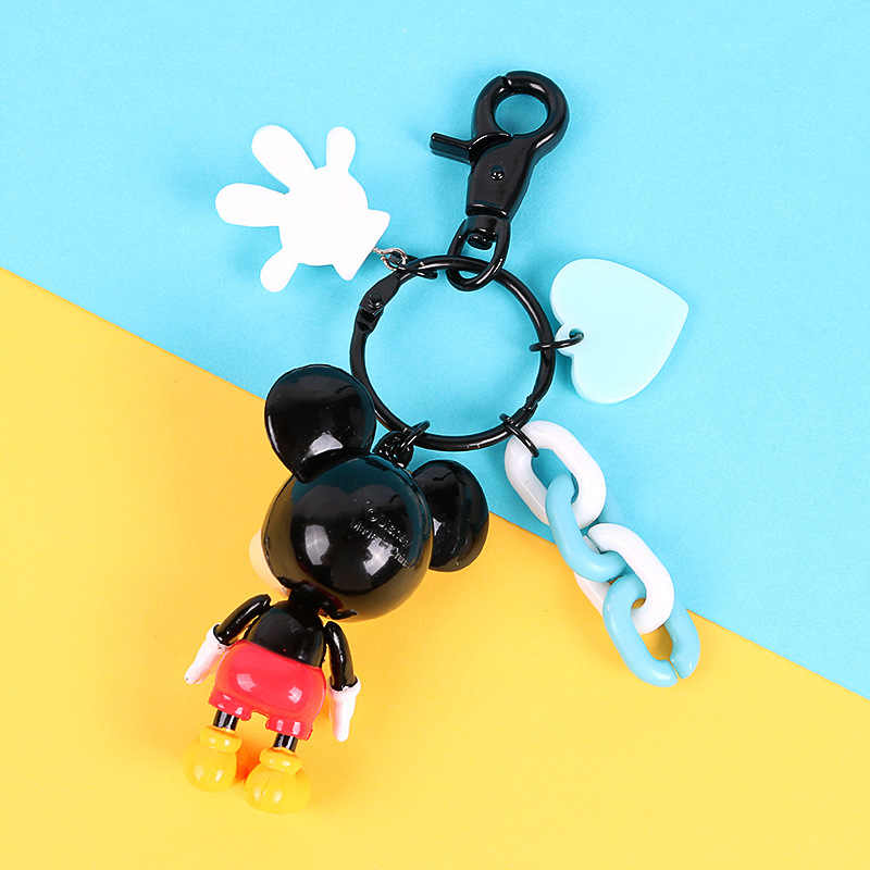 Minnie Bonito Dos Desenhos Animados Figura Kid Anel Chave Da Corrente Chave Mini Anime Rato Charme Pingente Chaveiro Chave Moda Chaveiro Menina