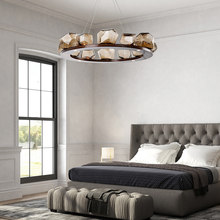 Post-Modern Glass Chandelier Nordic Simple Retro Style Living Room Bedroom Dining Bar Luxury Pendant G9 LED Lamp(China)