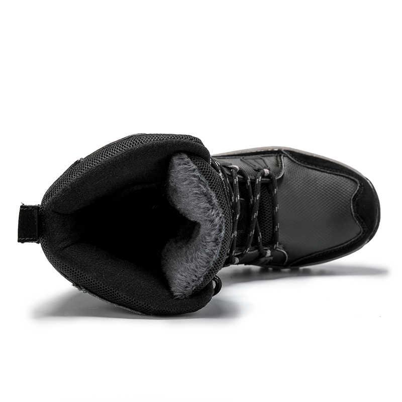 Ernestnm Giày Bốt Nữ Nóng Ấm Áp Mùa Đông Sang Trọng Giữa Bắp Chân Chống Thấm Nữ Boot Đen Plus Kích Thước Da PU Giày Nữ botas Mujer