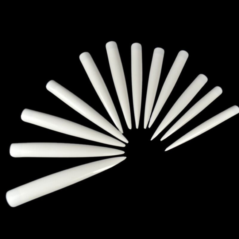 Manicure Salon Tip Refers To Nail Tip Sample Show A Lengthened Fake Nails Stickers Stage Art Nail Tip 12 PCs