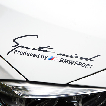 1pcs Car Reflective Lamp Eyebrow sticker M Sports Styling Auto Racing Decor Vinyl For BMWS M E39 E36 E60 E90 E46 F30 F10 F20 E53 etie car styling sports mind produced by m performance power sticker