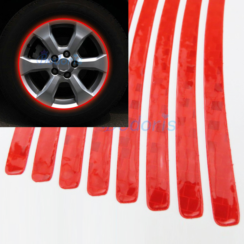 Waterproof Crystal Reflective Stikcer Car Tape Wheel Rim Strip for Nissan Juke Jeep Renegade Peugeot Toyota Styling Accessories in Car Stickers from Automobiles Motorcycles