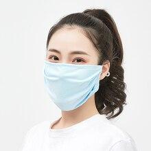 Fashion Cute Earloop Summer Face Mask Ice Silk Cotton Recycling Sunscreen Dustproof Haze Proof Mouth Mask