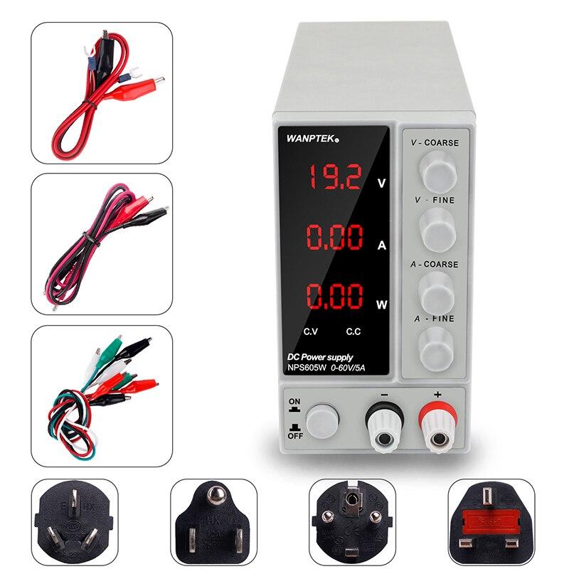 Alimentation de laboratoire réglable 60V 5A régulateur de tension 220 v dc alimentation à découpage banc source numérique réglable