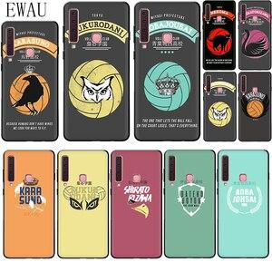 EWAU HAIKYUU!! Karasuno Nekoma Crest Silicone phone case for Samsung A2 Core A5 A6 plus A7 A8 A9 A10s 20s 20E 30s 40s 50s 60 70S