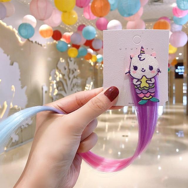 2020 милая красочная заколка для волос милая детская пряжка фотография