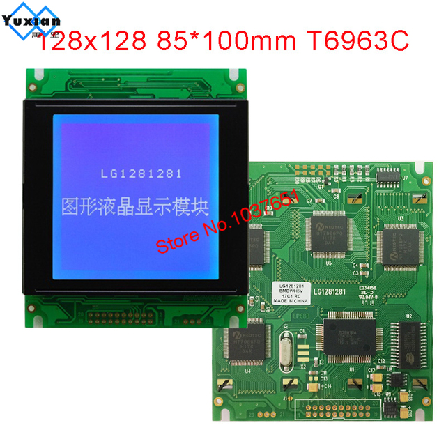LCD module 128128 128x128 display panel graphic 85X100mm T6963C UCI6963 LG1281281 instead WG128128A  New brand