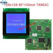 Módulo lcd 128128 128x128 display painel gráfico 85x100mm t6963c uci6963 lg1281281 em vez wg128128a nova marca