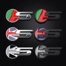 Adesivo de emblema em metal para jaguar, emblema em 3d para decoração de letras do reino unido e bandeira, decoração criativa com xf f-TYPE F-PACE xjl x-tipo