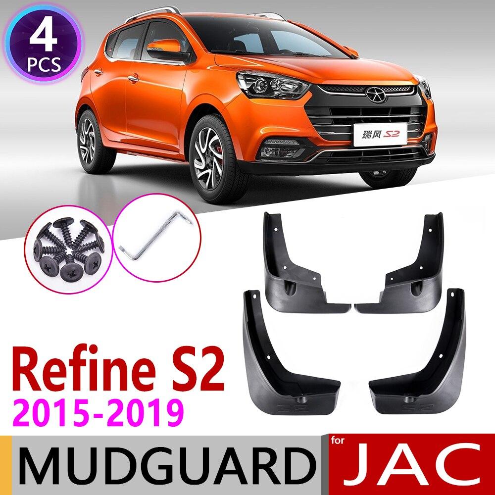Front Rear Car Mudflap For JAC Refine S2 2015~2019 T4 T40 Fender Mud Guard Flap Splash Flaps Mudguard Accessories 2016 2017 2018