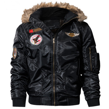 Bomber Pilot Jacket Men Winter Parkas Army Military Motorcycle Street Cargo Outerwear Air Force Tactical Coats 6XL