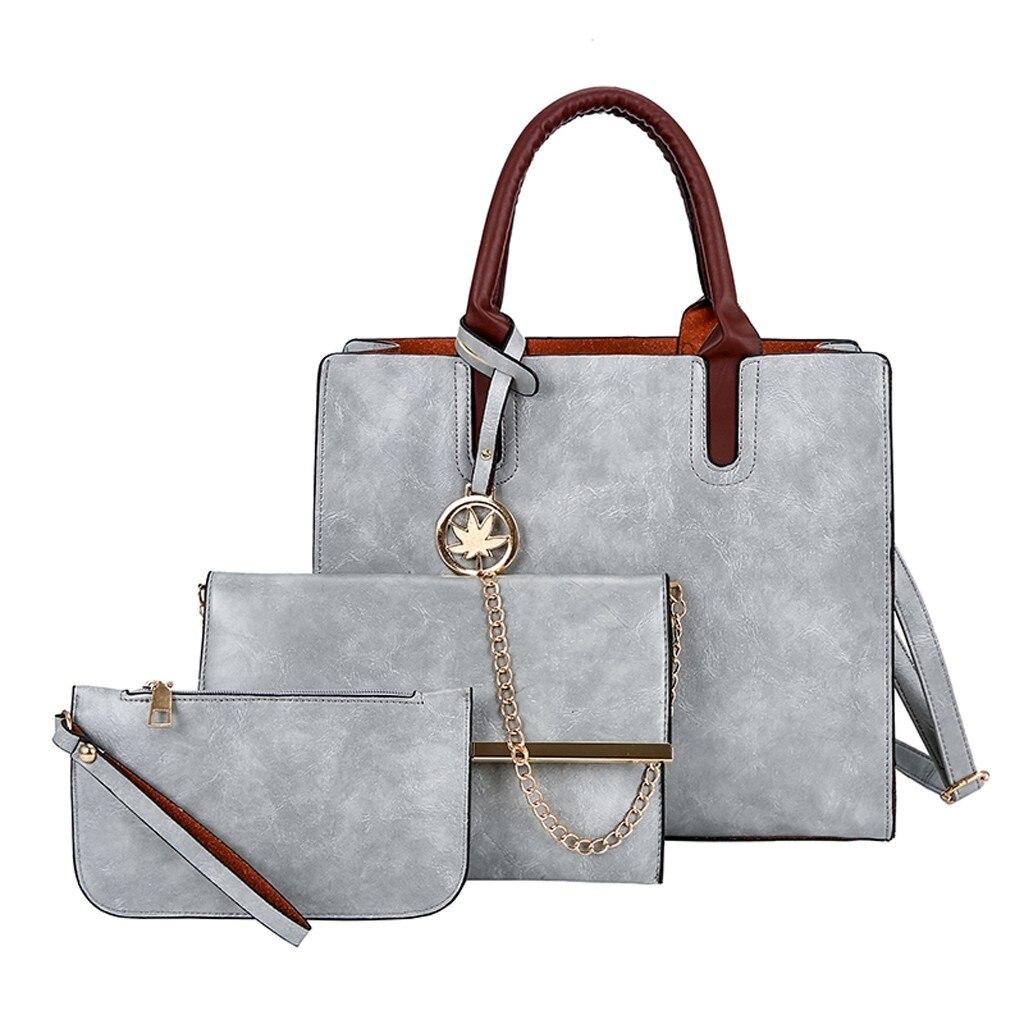 Ensemble sacs 3 pièces mode en cuir PU dames sac à main 65