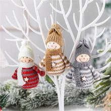 Ozdoby choinkowe dla domu święty mikołaj anioł lalki wiszące ozdoby nowy rok Kerst Decoratie ozdoby na choinkę tanie tanio PD-496-503 Bez pudełka christmas tree home decorations natal