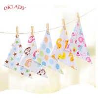Oklady bébé bavoirs Triangle Double coton bavoirs dessin animé impression salive serviette bébé garçons filles alimentation tablier coton Bandana bavoirs