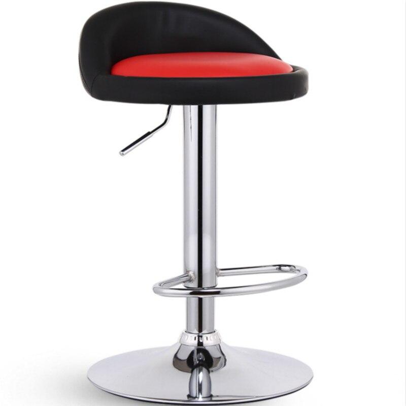 Nordic Style Bar Stools Modern Minimalist Lift Bar Chair High Stool Tabouret De Bar Banqueta Cadeira Chaise Disc Foot