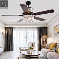 led ceiling fan for living dining room bedroom 110v 220v fan lamp light ceiling fans with lights pull switch