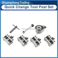 Drehmaschine Schnell Ändern Werkzeug Post Set WM210V & WM180V & 0618 12x12mm werkzeug rest für Schaukel über bett 120-220mm