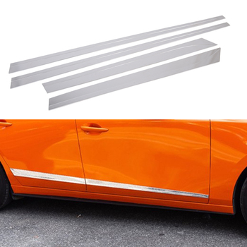 Exterior Chrome DoorTrim Strips Door Side Body Garnish Molding Protector Accessories Cover Fit For 2019 2020 Mazda 3 Sedan