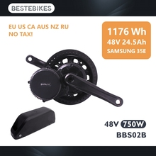цены на Bafang motor 48V 750W mid motor with 48V 24.5AH/48V18.2AH  electric motor kit  в интернет-магазинах