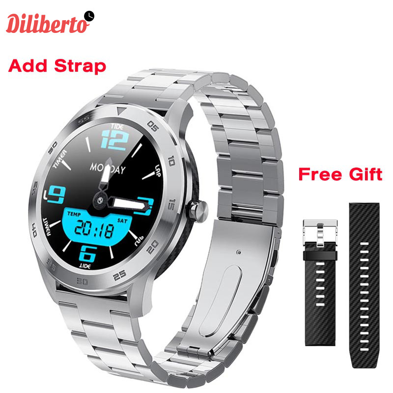 Diliberto ECG Smart Watch IP68 Waterproof Fitness Tracker Heart Rate Monitor DT98 Stopwatch Bluetooth Call <font><b>Smartwatch</b></font> VS B57 <font><b>L7</b></font> image