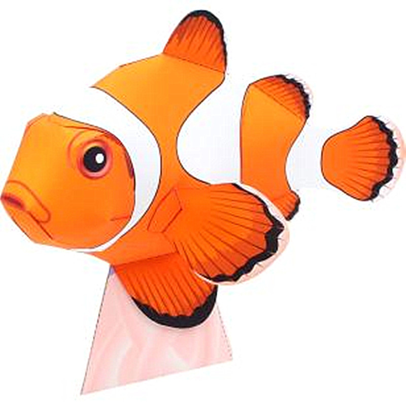 Clownfish Toddler Handmade 3D Creative Art Three-dimensional Handmade Kindergarten Handmade Origami