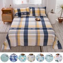 Flat-Sheet Adults Single Bed-Linen No-Pillowcase Printed Stripe 100%Cotton for Children