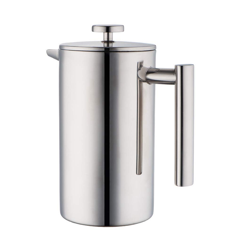 Stainless Steel French Press Coffee Maker | Double Walled Insulated Coffee & Tea Brewer Pot & Maker | Keeps Brewed Coffee or Tea|Coffee Pots| |  - title=