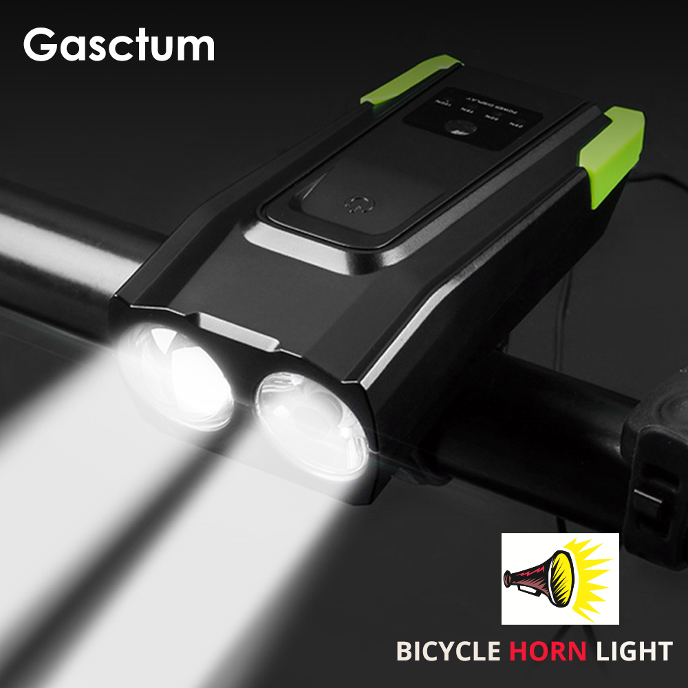 20000 Lumens 4000mAh Bike Front Light With Horn USB Rechargeable Smart Bicycle Light Induction  LED Bike Lamp Riding Light