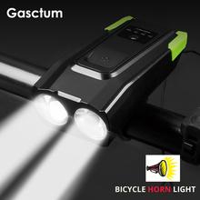 20000 lumenów 4000mAh rower przednie światła z róg USB akumulator inteligentny rower światła indukcja LED lampa rowerowa światło do jazdy tanie tanio Gasctum CN (pochodzenie) Kierownica Baterii CCC CE