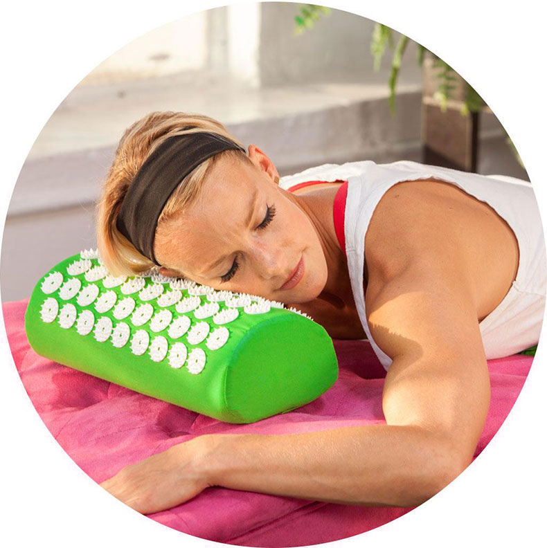 Non-Slip Acupressure Cushion Massage Mat Body Pain Spike Fitness Pilates Exercise Pillow Yoga Mat Gift Bag Applicator 21