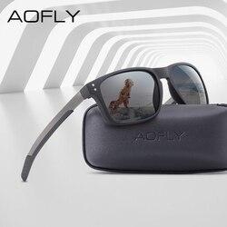 AOFLY BRAND DESIGN Classic Polarized Sunglasses Men Mirror Drive Sunglasses Male TR90 Flexible Frame Eyewear Female Gafas UV400